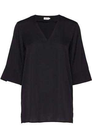 Filippa K Silk Tunic Bluse Kortermet Grønn