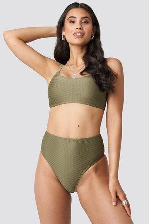 NA-KD Structured High Waist Bikini Panty