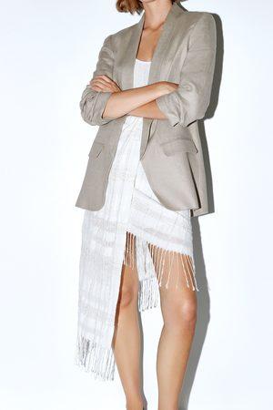 Zara Dame Miniskjørt - Miniskjørt med frynser