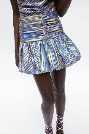Zara Dame Miniskjørt - Stripet miniskjørt
