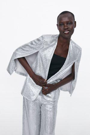 Zara Dame Capes - Kappe med åpninger og glitter