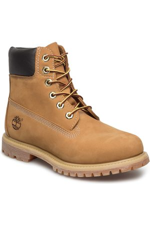 Timberland Dame Skoletter - 6in Premium Boot - W Shoes Boots Ankle Boots Ankle Boots Flat Heel Brun