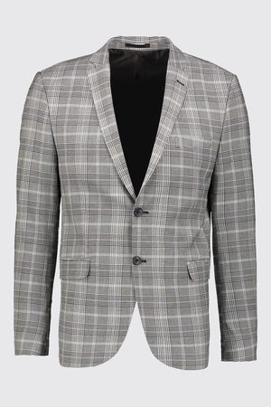 Boohoo Prince Of Wales Check Suit Jacket