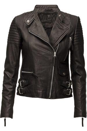 MDK / Munderingskompagniet City Biker Leather Jacket Skinnjakke Skinnjakke Svart