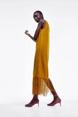 Zara Rustikk kjole med frynser