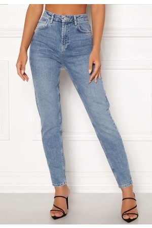 Pieces Leah Mom HW Ankle Jeans Light Blue Denim S
