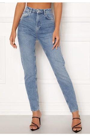 Pieces Leah Mom HW Ankle Jeans Light Blue Denim XL