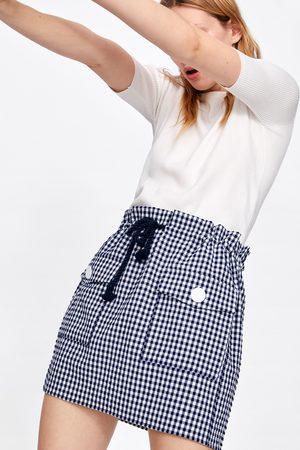 Zara Miniskjørt med ginghamruter