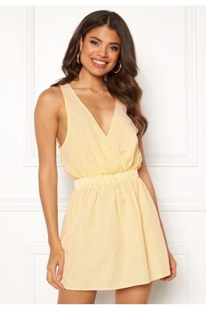 Ivyrevel Wrap Mini Dress Yellow Stripe 34