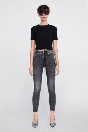 Zara Jeans zw premium high waist skinny powder grey