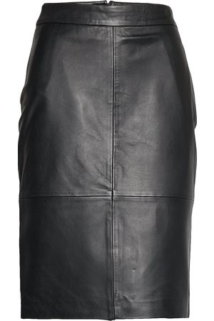 Selected Slfmaily Hw Leather Skirt W Knelangt Skjørt