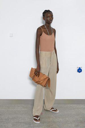 Zara Dame Singleter - Elastisk singlet med stropper