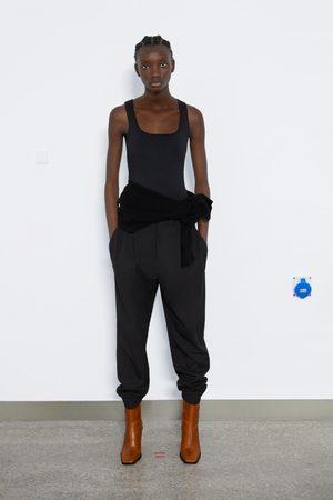 Zara Dame Singleter - Elastisk singlet med brede stropper