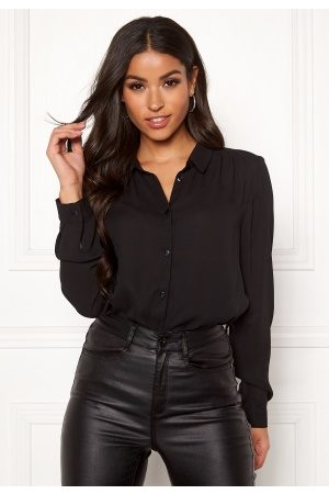 Vila Dame Bluser - Lucy L/S Button Shirt Black S