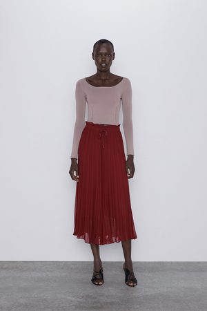 Zara Dame Culotte bukser - Plissert culottebukse