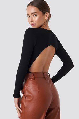 NA-KD Dame Lingerie - Open Back Bodysuit
