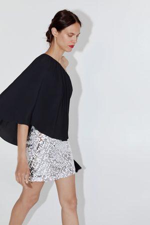 Zara Dame Miniskjørt - Miniskjørt med paljetter