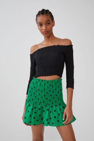 Zara Miniskjørt med prikker