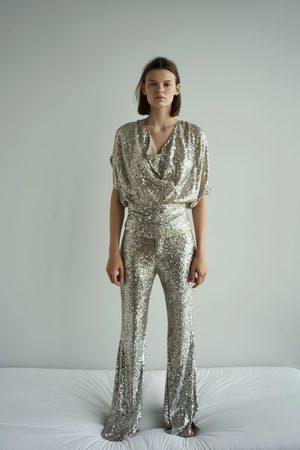 Zara Dame Bukser - Slengbukse med paljetter