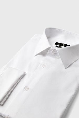 Zara Herre Mansjettknapper - Skjorte med struktur og mansjettknapper