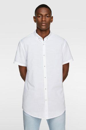 Zara Herre Kortermede - Kortermet skjorte med struktur