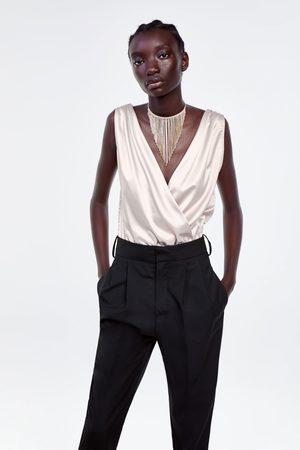 Zara Dame Body - Body med satengeffekt