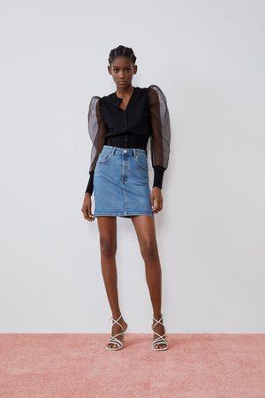 Zara Dame Miniskjørt - Denim mini skirt
