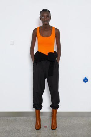 Zara Elastisk singlet med brede stropper