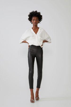 Zara Dame Leggings - Leggings med skinneffekt
