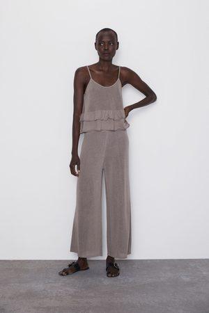 Zara Dame Culotte bukser - Strikket culottebukse