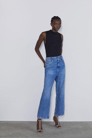 Zara Basic t-skjorte i ribbestrikk