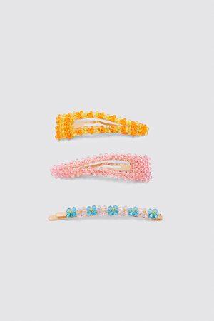 Zara Dame Håraccessories - Pakning hårspenner med fargerikt glitter