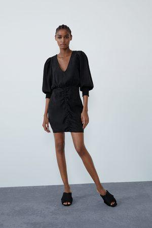 Zara Dame Kjoler - Vid kjole med rynker