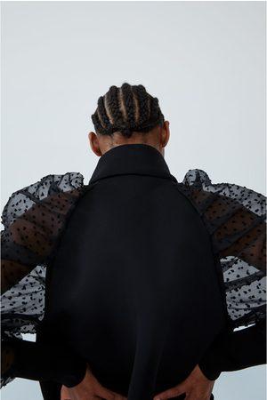 Zara Jakke med ermer i mønstret tyll