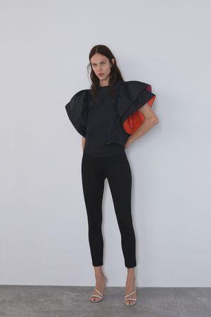 Zara Dame Leggings - Leggings med bredt liv