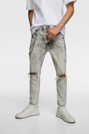 Zara Jeans - Smal denimbukse med lenker