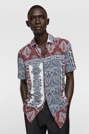 Zara Skjorter - Skjorte med mosaikkmønster