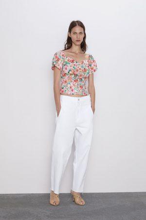 Zara Topp med blomstermønster