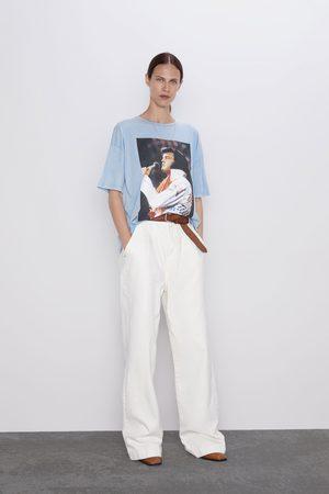 Zara Dame Skjorter - T-skjorte med elvis presley™ motiv