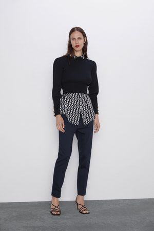 Zara Dame Bukser - Bukse med linning i midjen