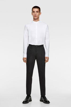 Zara Skjorter - Stretch-skjorte med kinakrage