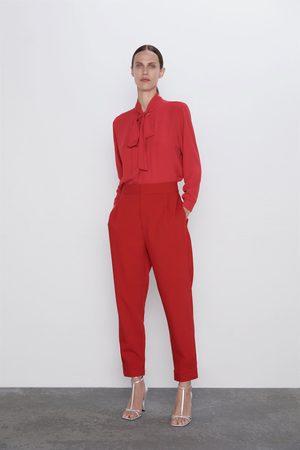 Zara Dame Bukser - Bukse med knapper i kanten