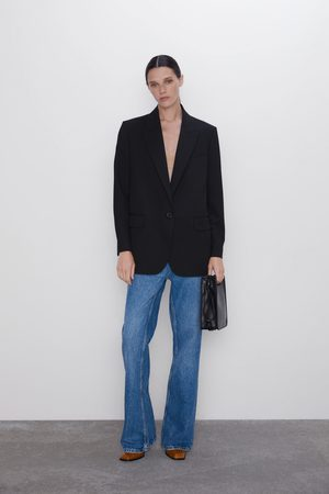 Zara Dame Blazere - Oversize blazer med knapp