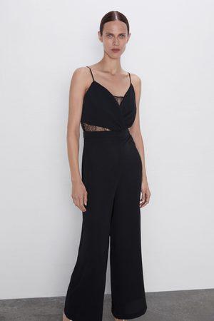 Zara Kombinert jumpsuit med blonder