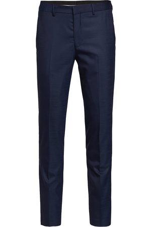 Selected Slhslim-Mylostate Dk Blue Trs B Noos Dressbukser Formelle Bukser Blå