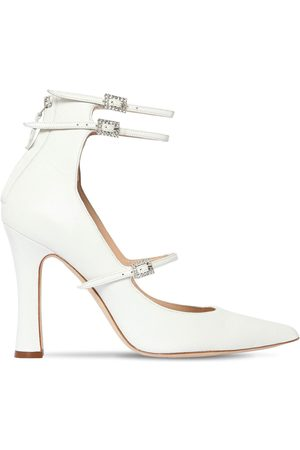 Alessandra Rich Dame Pumps - 105mm Mary Jane Leather Pumps