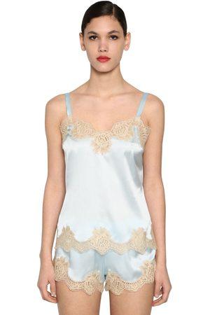 Dolce & Gabbana Silk Satin & Lace Camisole Top