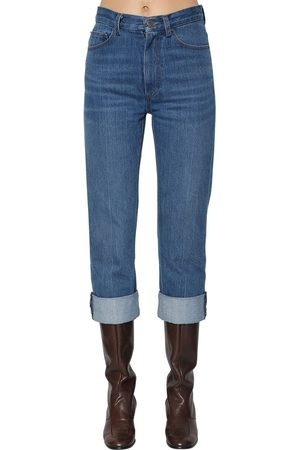 Marc Jacobs Dame Straight - Straight Leg Cotton Jeans