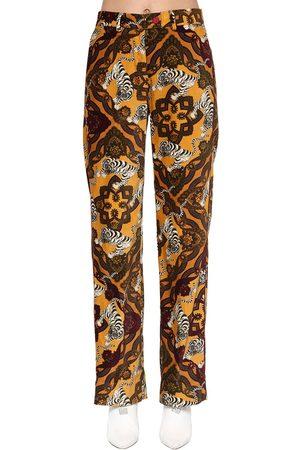 F.R.S For Restless Sleepers Printed Cotton Velvet Pants