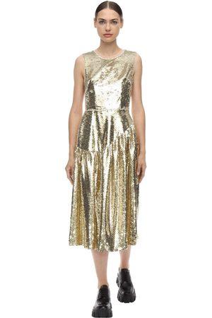 Simone Rocha Dame Midikjoler - Sequined Midi Dress